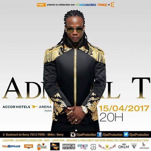 ADMIRAL T EN CONCERT  LE 15 AVRIL 2017 ACCORHOTELS ARENA PARIS   ( BERCY )