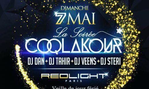 La soirée Coqlakour le Dimanche 07 Mai 2017 Au RedLight .