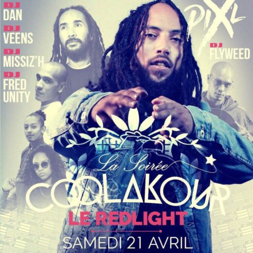 COQLAKOUR te donne rendez-vous le 21 Avril 2018 au REDLIGHT PARIS – SHOW PIX-L & DJ FLYWEED