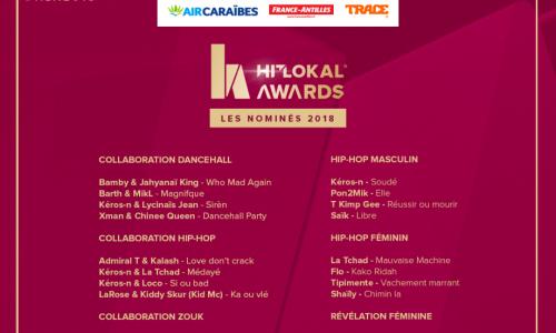 Hit Lokal Awards 2018 : Les nominés sont …
