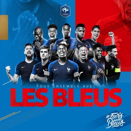 Images et réactions des Bleus mardi soir après la victoire : Dans le bus – Juillet 2018